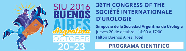 36th Congress of Société Internationale d'Urologie. 20 al 23 de octubre de 2016. Buenos Aires.